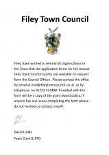 Filey Town Council Grant Scheme